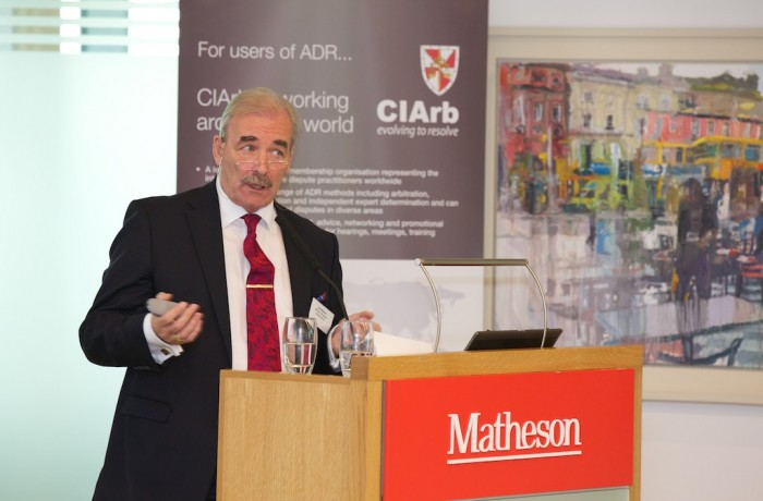 Joe Behan speaking on Mediation at the CIArb Centenary Conference Nov 2015